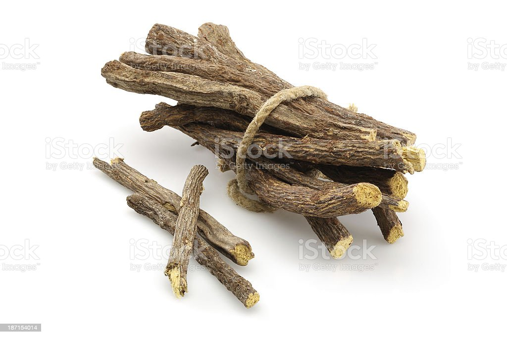 Licorice root sticks royalty-free stock photo