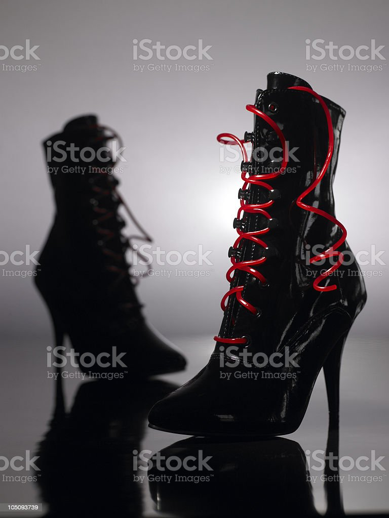 Licorice Whip Boots royalty-free stock photo