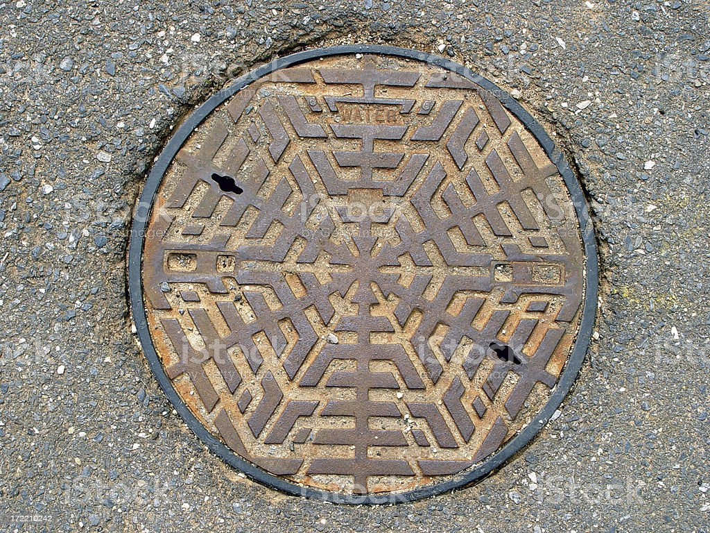 Lid of water main royalty-free stock photo