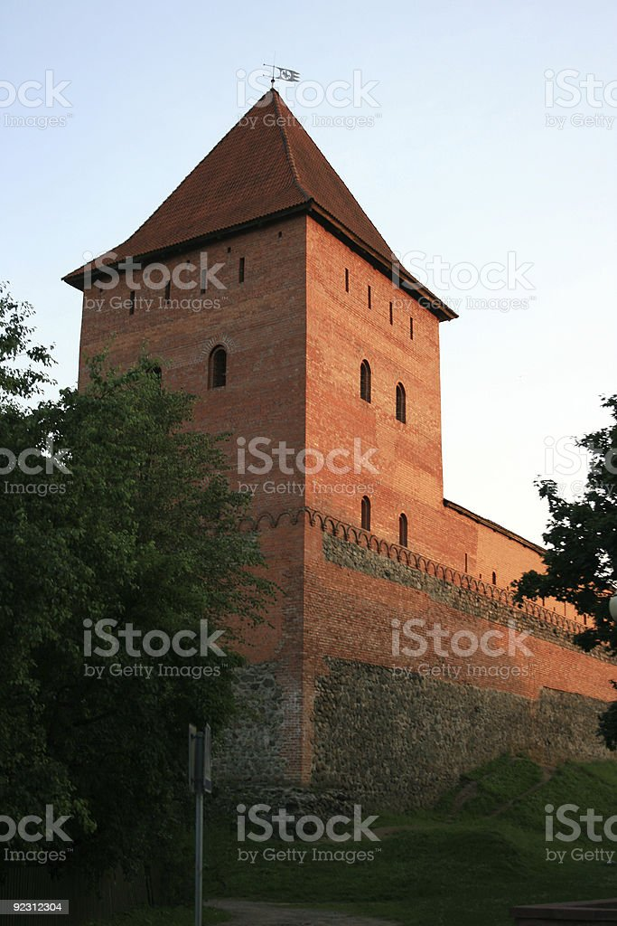 Lida Castle Tower, Belarus royalty-free stock photo