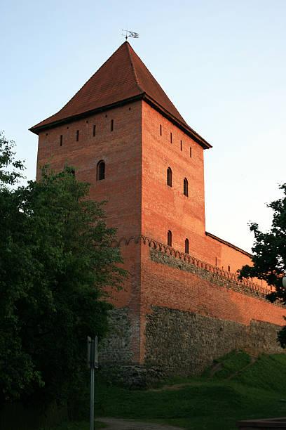 Lida Castle Tower, Belarus stock photo