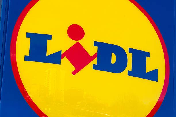 Lidl logo stock photo