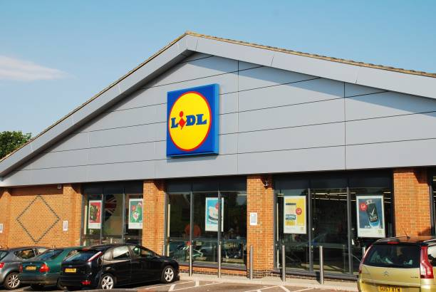 Lidl supermarket, England stock photo