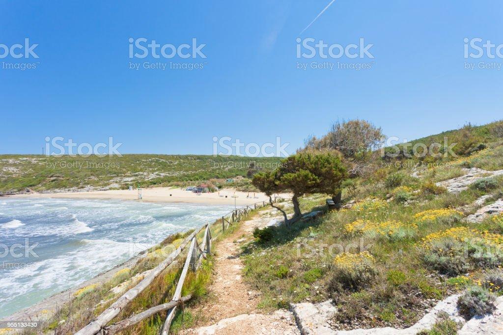 Lido Cala Lunga, Apulien - beeindruckende Landschaft rund um den Strand Cala Lunga – Foto