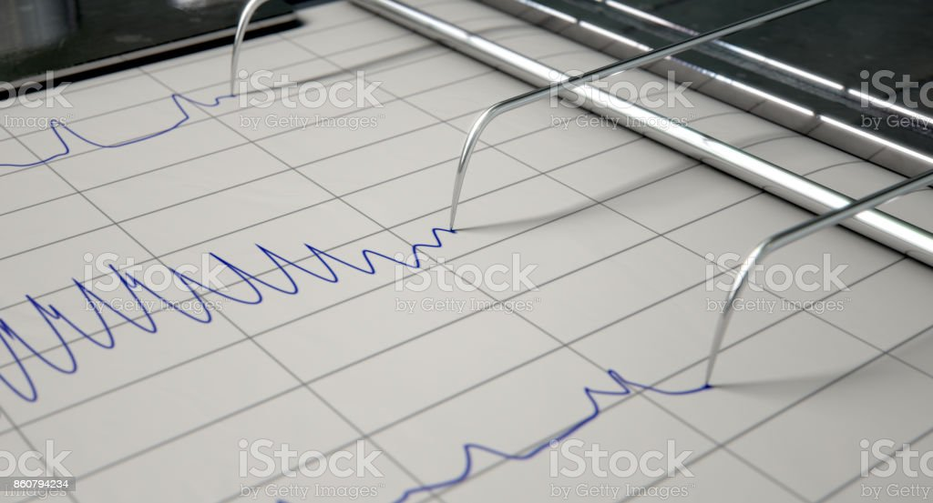 Lie Detector Test stock photo