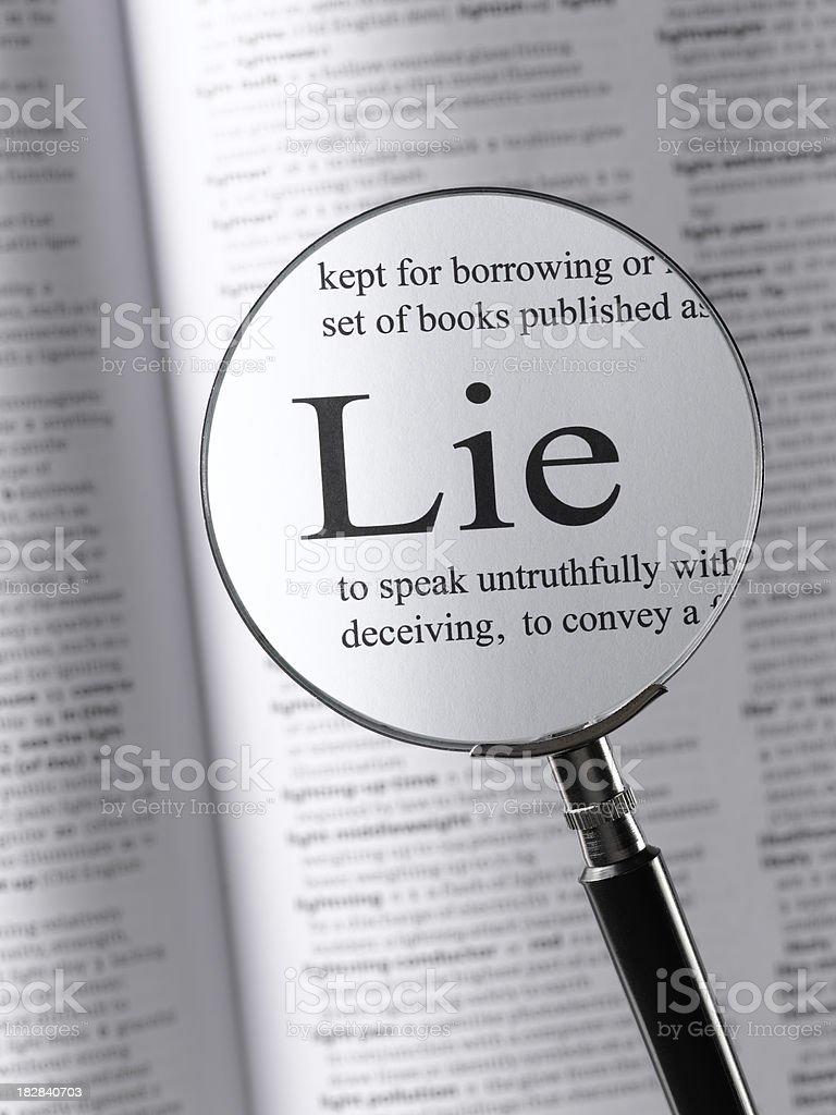 lie royalty-free stock photo