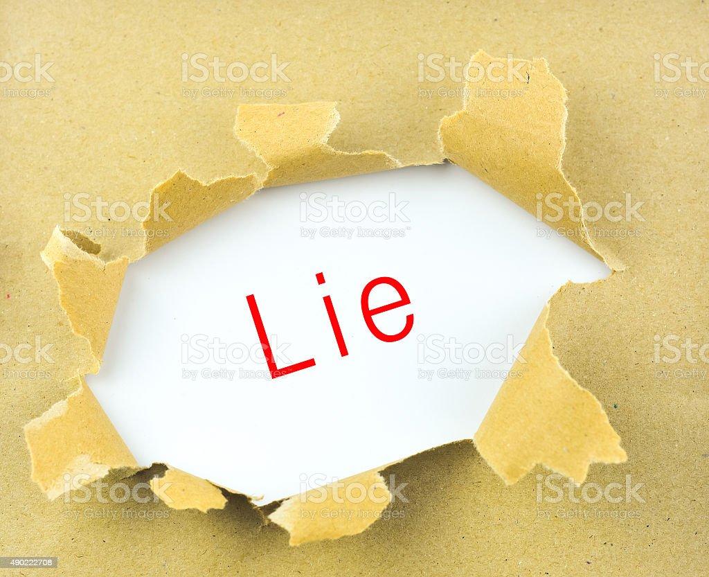 Lie stock photo