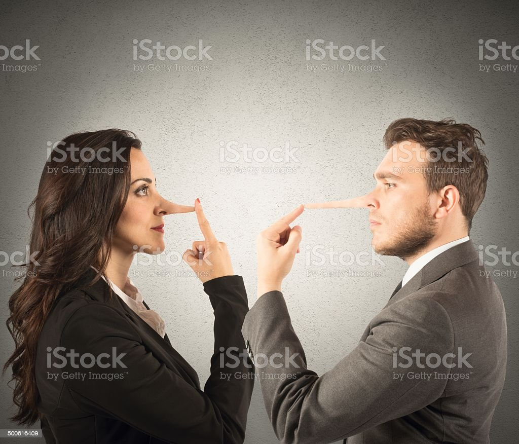 Lie stock photo
