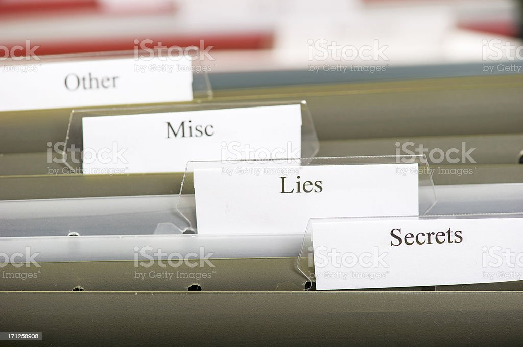 Lies and Secrets royalty-free stock photo