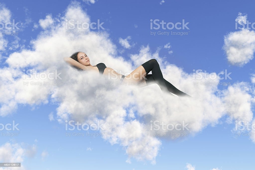 lies on a cloud royalty-free stock photo