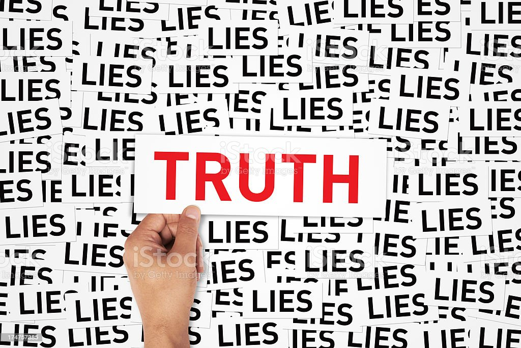 Lies or Truth stock photo