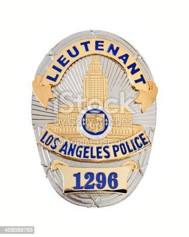 istock LAPD Lieutenant's badge 458589765