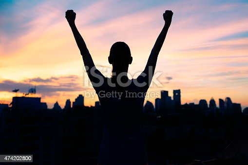 istock Life achievement, success and sport concept 474202800