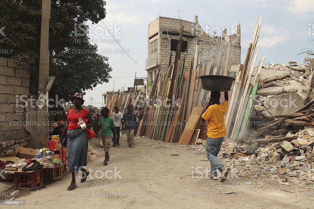 Life after the Earthquake, Haiti royalty-free stock photo