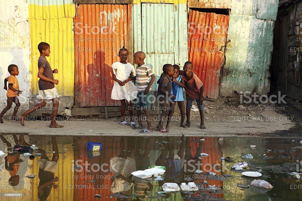 Life after the Earthquake, Haiti stock photo