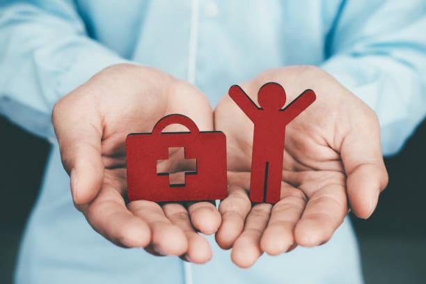Lebens- und Krankenversicherung Politik Konzeptidee. – Foto