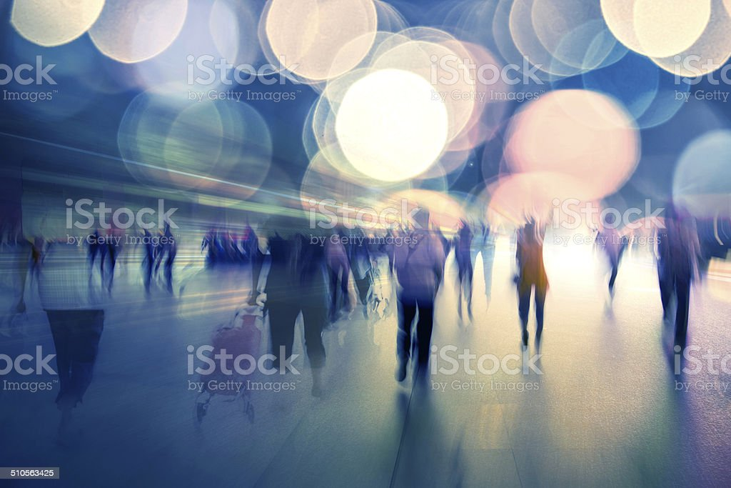 life at night of modern city stock photo