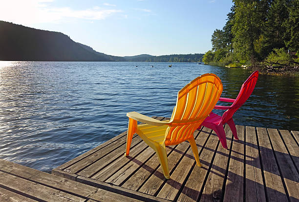 life at the lake - st. mary lake stock pictures, royalty-free photos & images