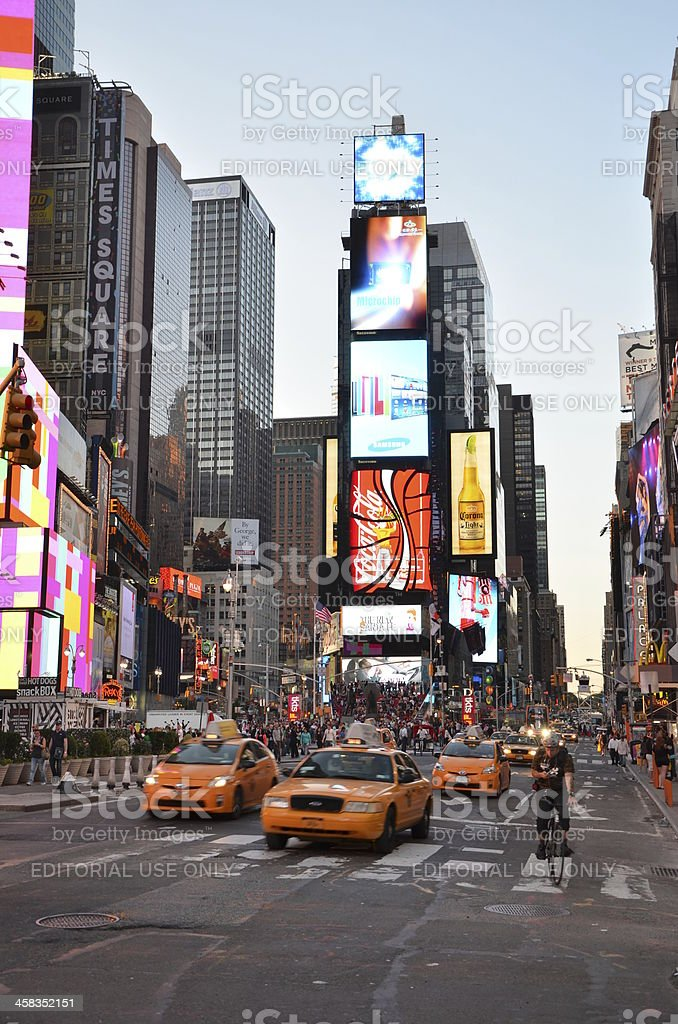 Life at time square royalty-free stock photo
