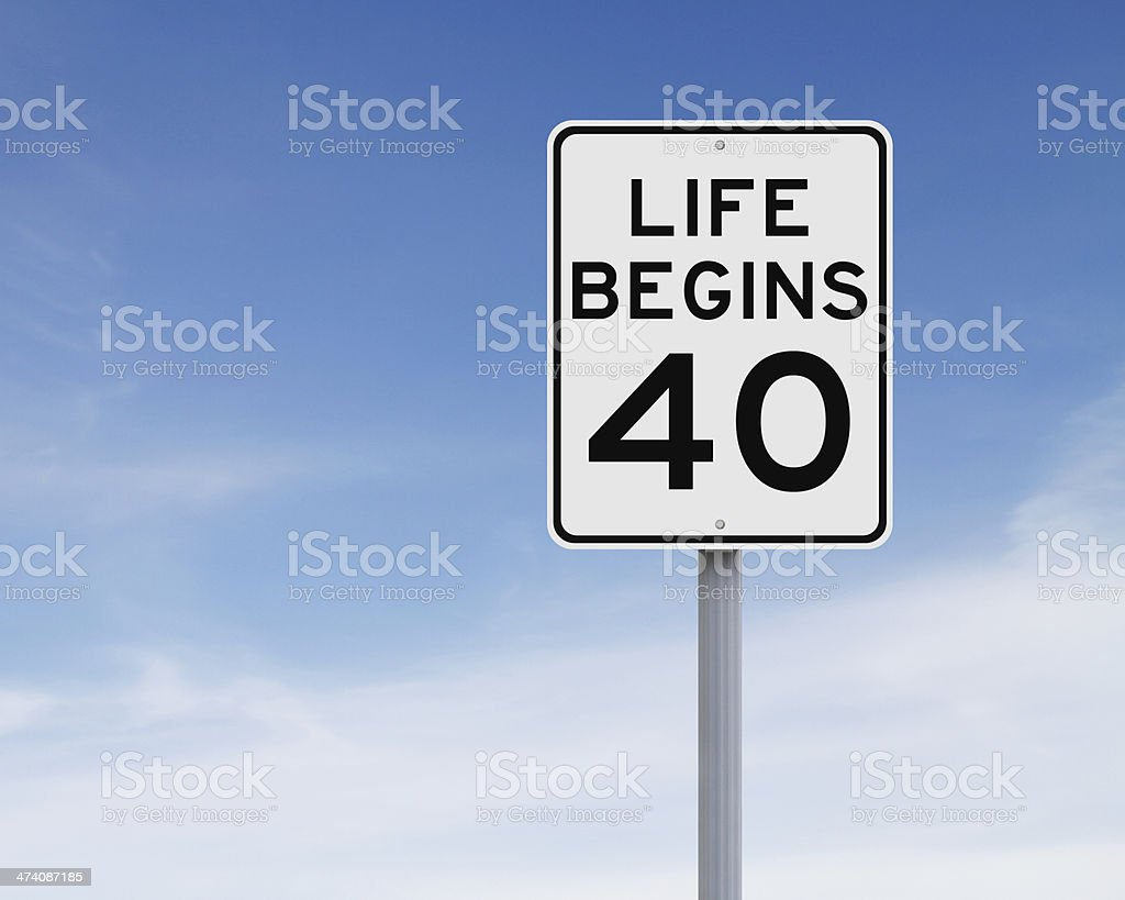 Life Begins at Forty stock photo