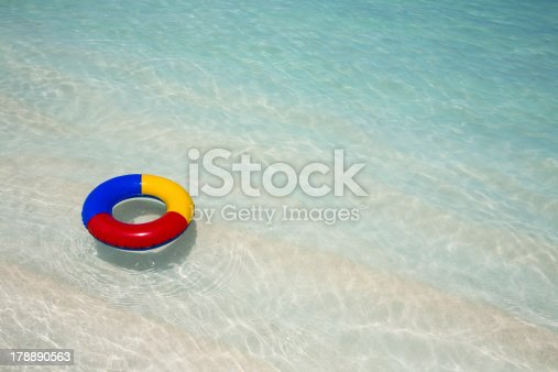 istock life belt in the sea 178890563