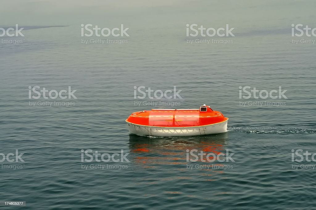 Life Boat Drill stock photo