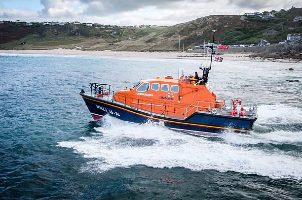 life boat launch - livbåt bildbanksfoton och bilder
