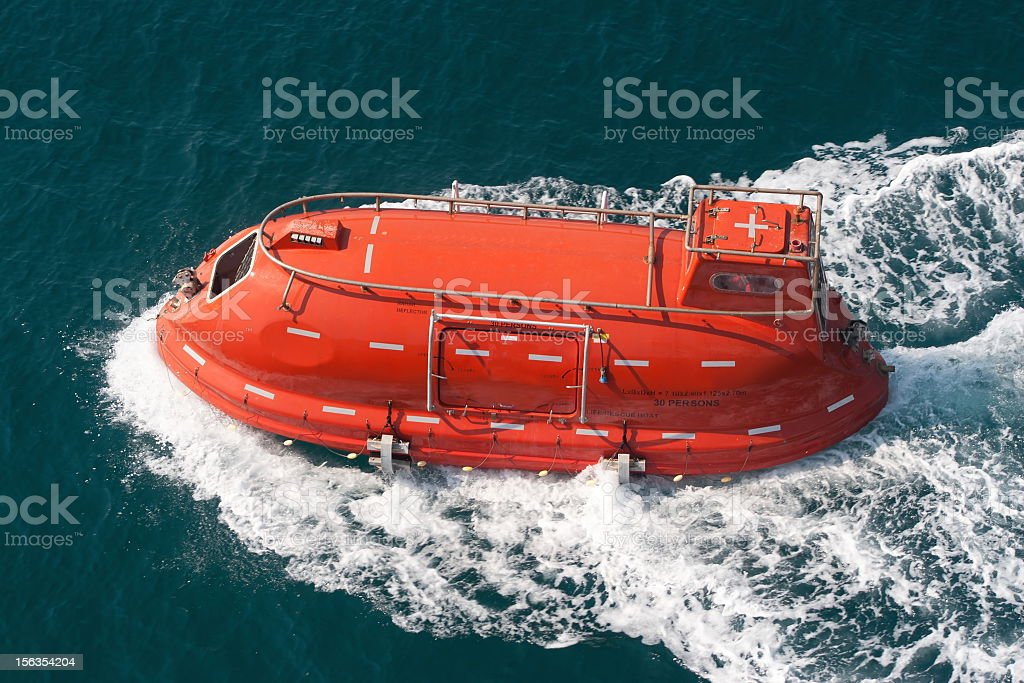 Life boat stock photo