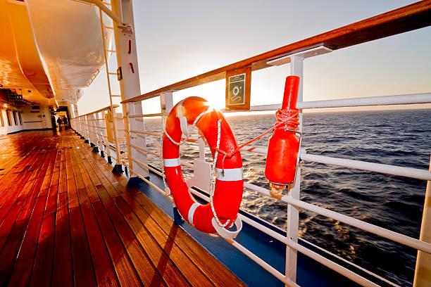 life boat, preserver and safety beacon - livbåt bildbanksfoton och bilder