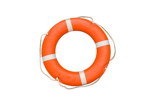 LIfe Bouy Isolated on white a life ring ready to go just add water buoy stock pictures, royalty-free photos & images
