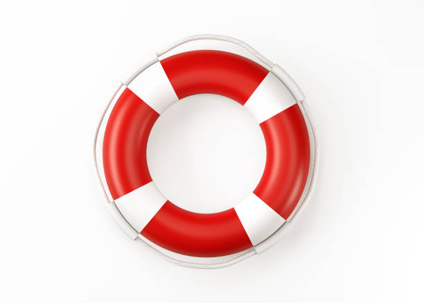 Life Buoy Isolated On White Background Life buoy isolated on white background. Horizontal composition with copy space. Clipping path is included. buoy stock pictures, royalty-free photos & images
