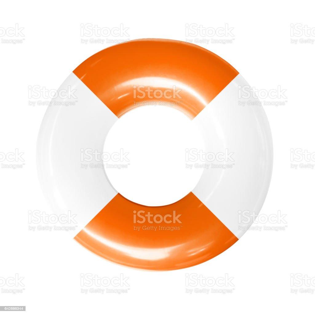 life buoy isolated stock photo