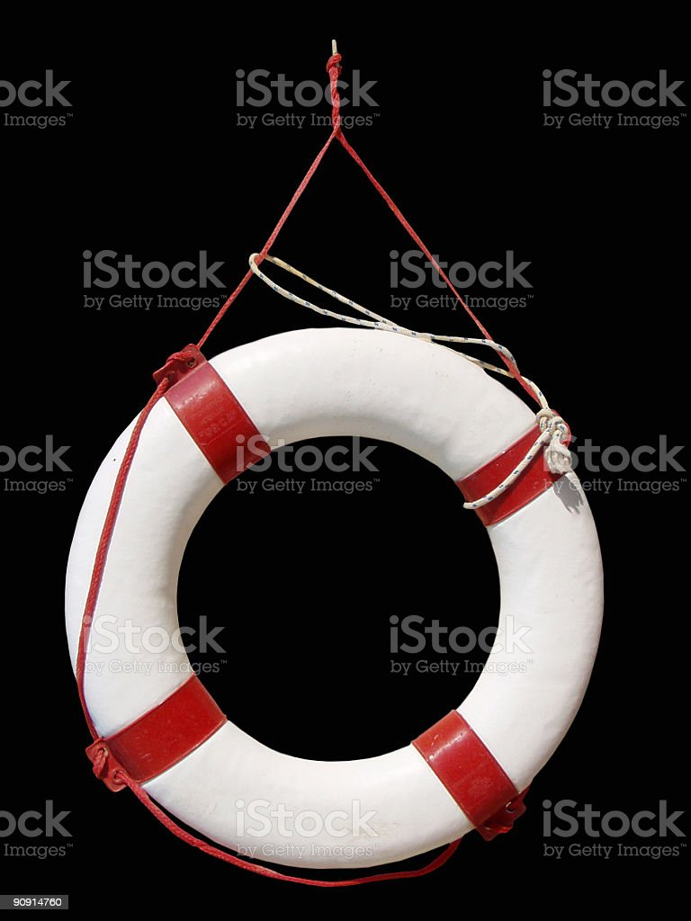 Life buoy on black royalty-free stock photo