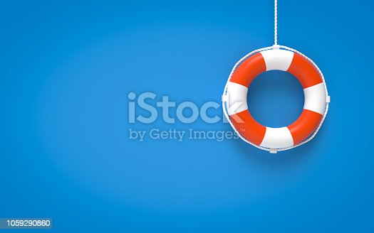 Life Belt, Life Buoy, Life Ring, Circle, Rope, Single Object