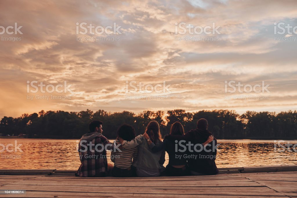 Life filled with friendship. stock photo