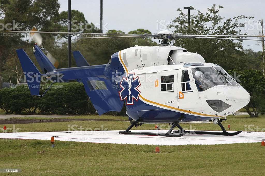 Life Flight Helicopter stock photo