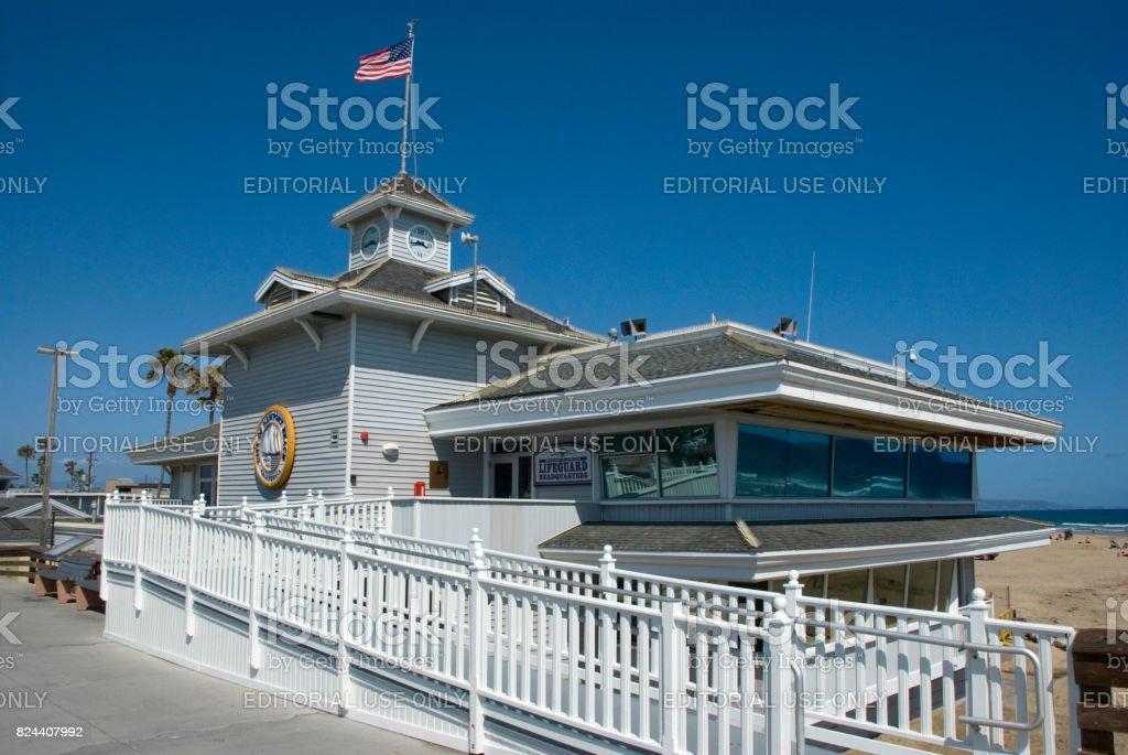 Life guard Headquarter of Newport Beach, Orange County - California stock photo
