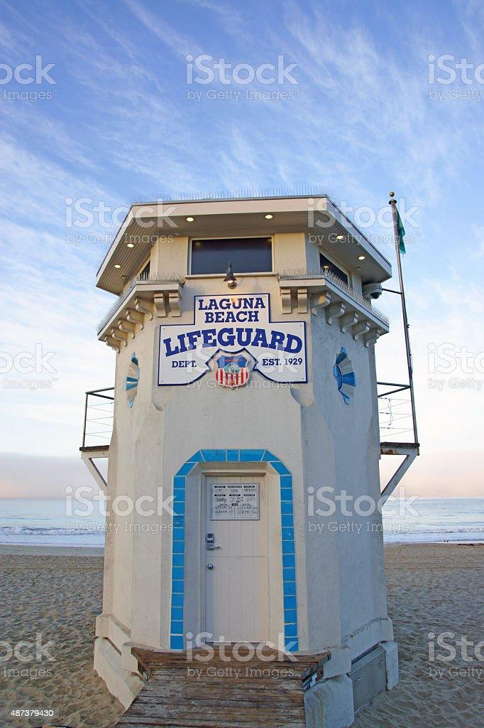 Życie stacji przez strażnika w Laguna Beach-Stan Kalifornia – zdjęcie