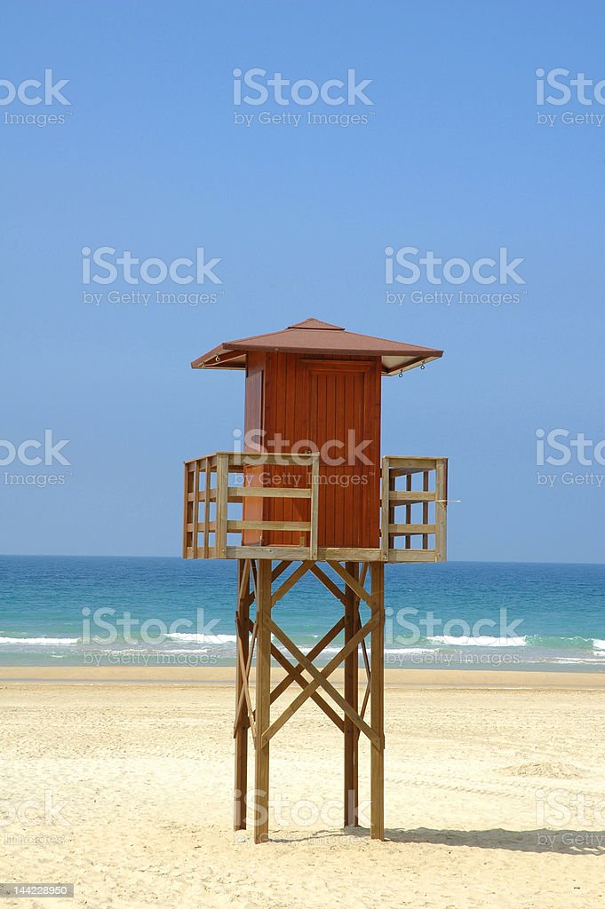 Life Guard Station on a beach royalty-free stock photo