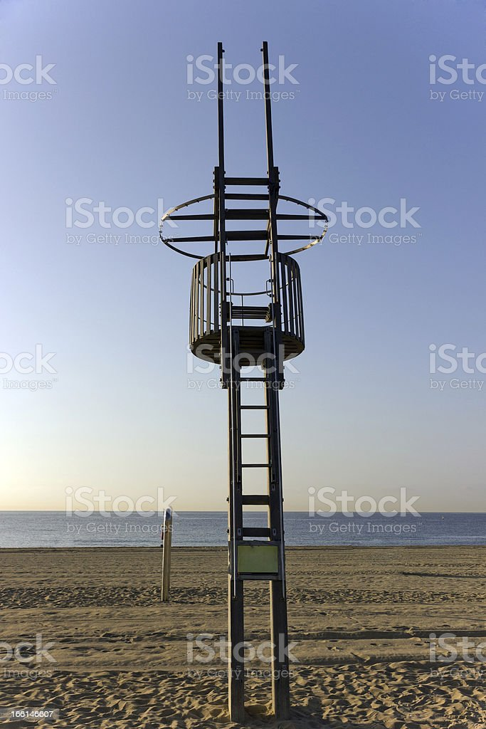 Life guard tower royalty-free stock photo