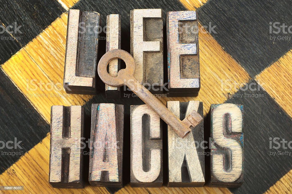 life hacks concept stock photo