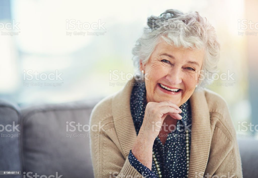 Life hasn't changed my smile one bit stock photo