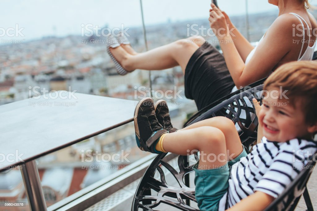 Life in a big city royalty-free stock photo