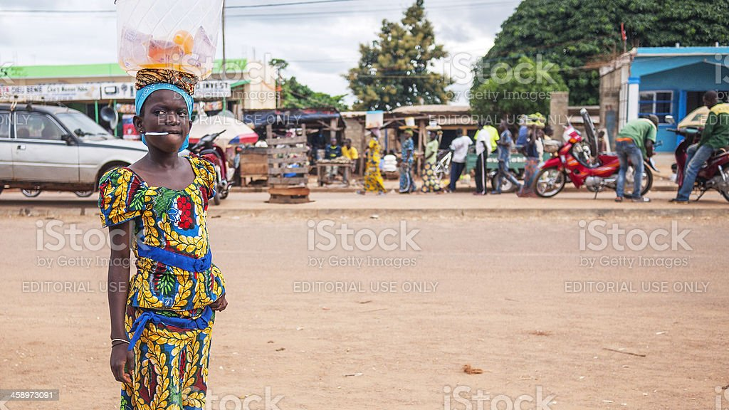 Life in african town. stock photo