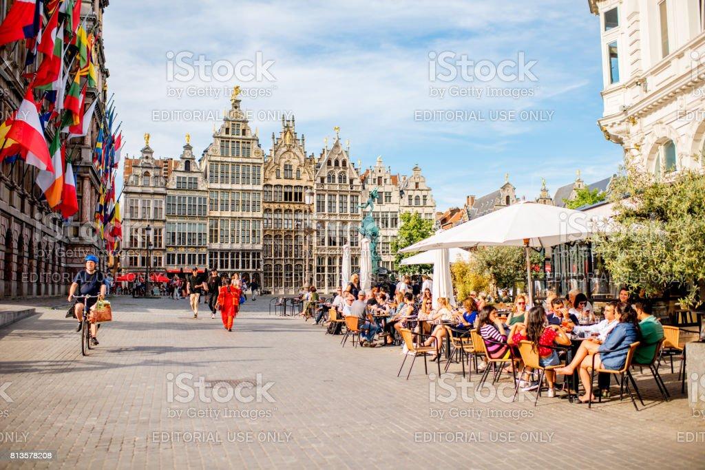 Vie dans la ville d'Anvers - Photo