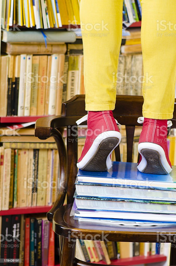 Life in Library stock photo