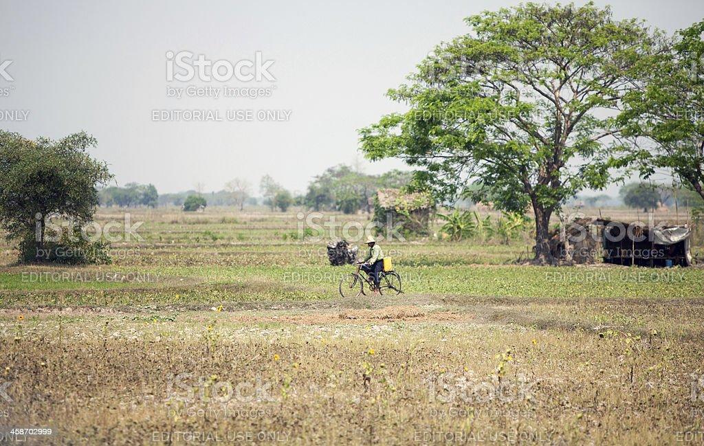 Life in Myanmar stock photo