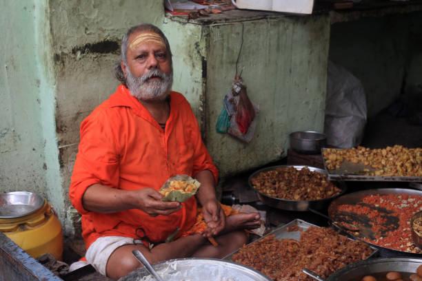 Life in the gullies Varanasi stock photo