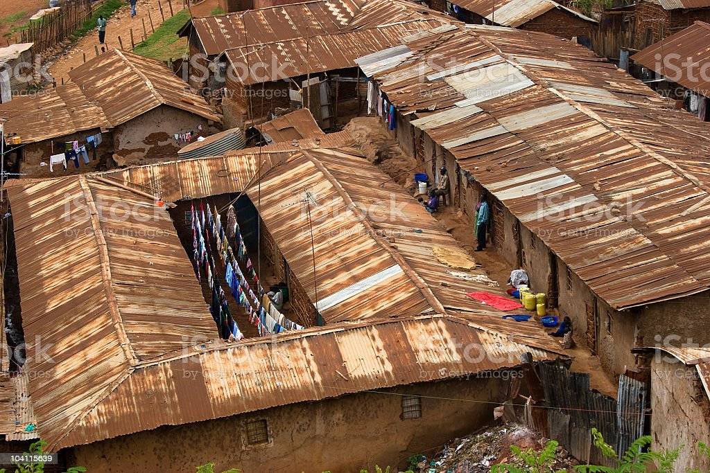 Life in the Slums royalty-free stock photo
