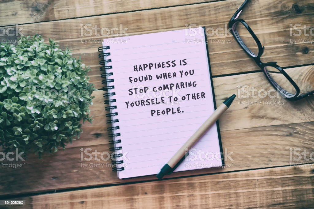 Life Inspiration Quotes Happiness Is Found When You Stop Comparing